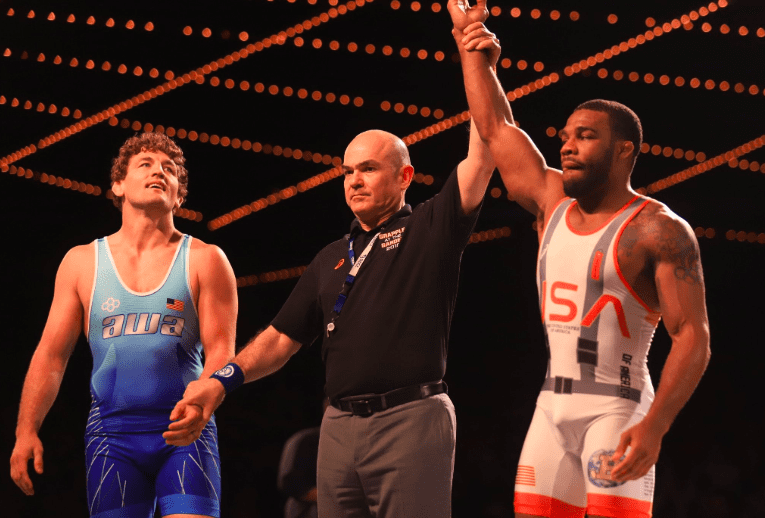 0c0a349edeadbd  There s levels to this   Jordan Burroughs dominates Ben Askren at  Beat  the Streets