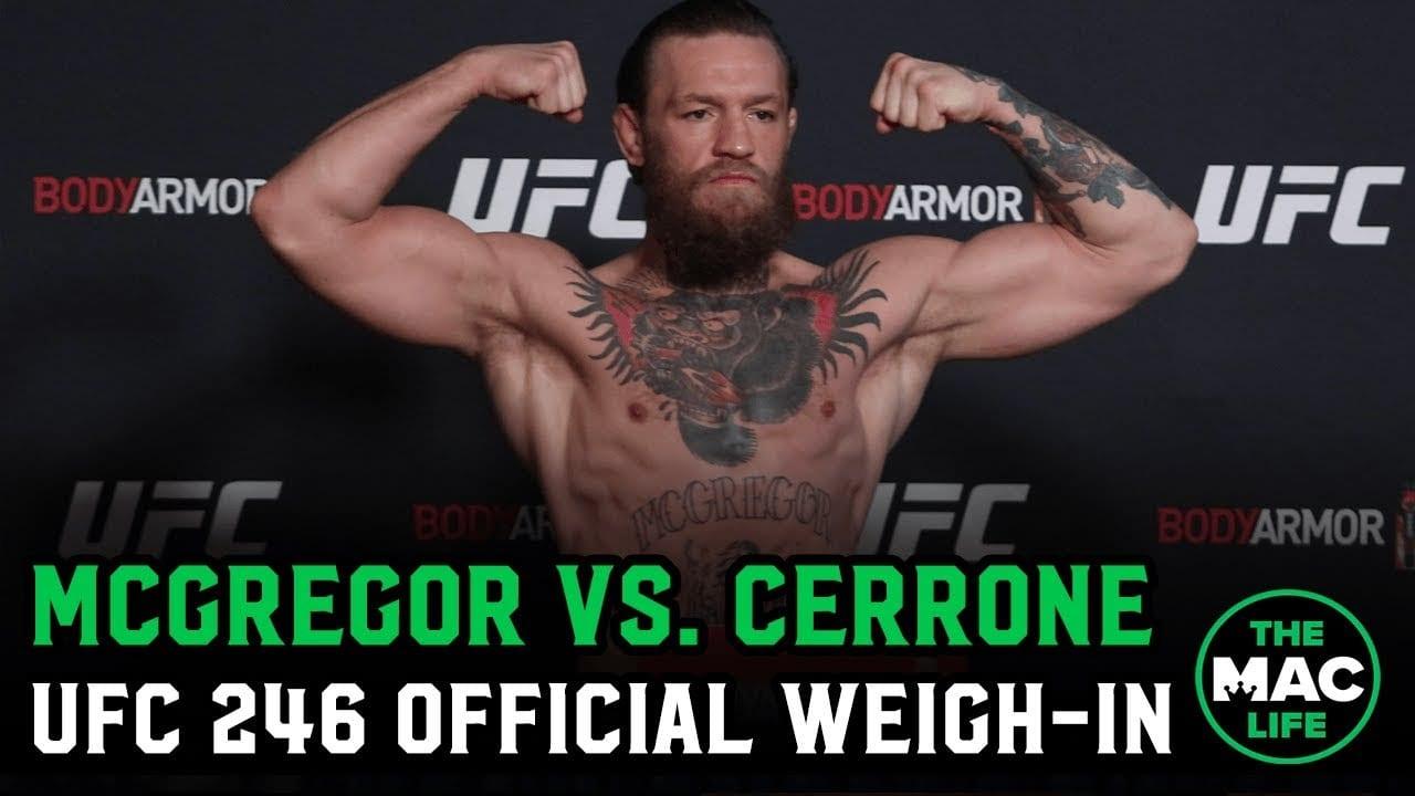Watch Conor Mcgregor Vs Donald Cerrone Ufc 246 Official