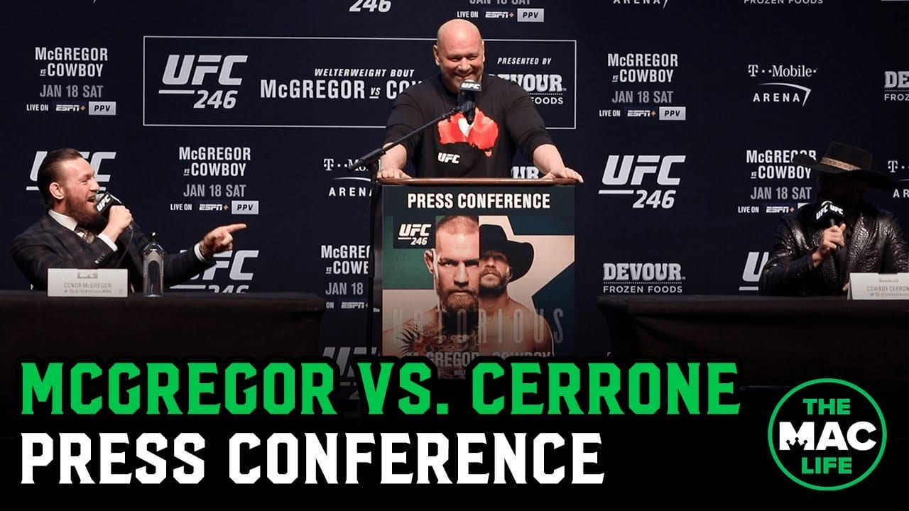 Watch Ufc 246 Press Conference Conor Mcgregor Vs Donald