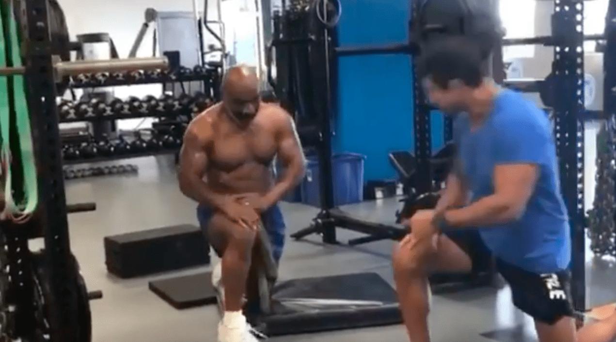 Watch Mike Tyson Looks In Phenomenal Shape In Training Video Alongside Vitor Belfort