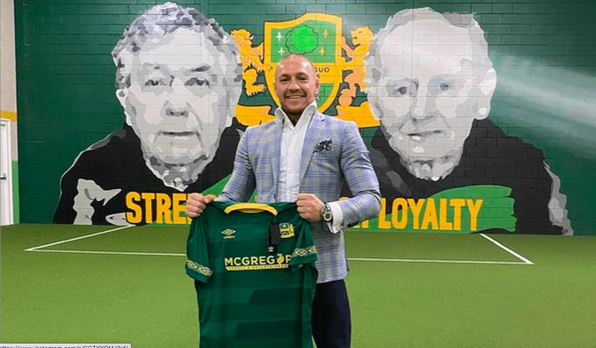 Watch: 'Strength through loyalty' — Players from Conor McGregor's childhood football team Lourdes Celtic wish him well ahead of Poirier bout thumbnail